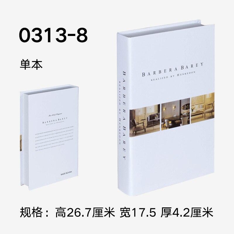 Falso ornamentos para libros Simple inglés moderno Decoración Accesorios Hotel estudio suave de accesorios libro modelo CAFÉ Tienda
