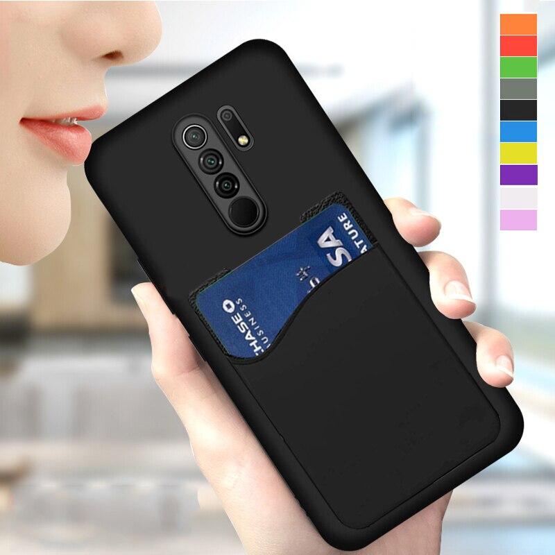 Caso TPU macio para Nokia 4.2 5 5.1 Plus 5.3 5.4 X5 6 6 .. 1 6.2 Pureview X6 8.1 Sirocco 8 9 Matte Luxo Titular do Cartão de Cobertura