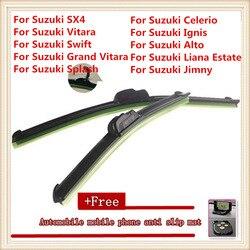 Lâminas de limpador para pára-brisa do carro para suzuki sx4/suzuki vitara/suzuki swift/grand vitara/splash/celerio/ignis/alto/jimny