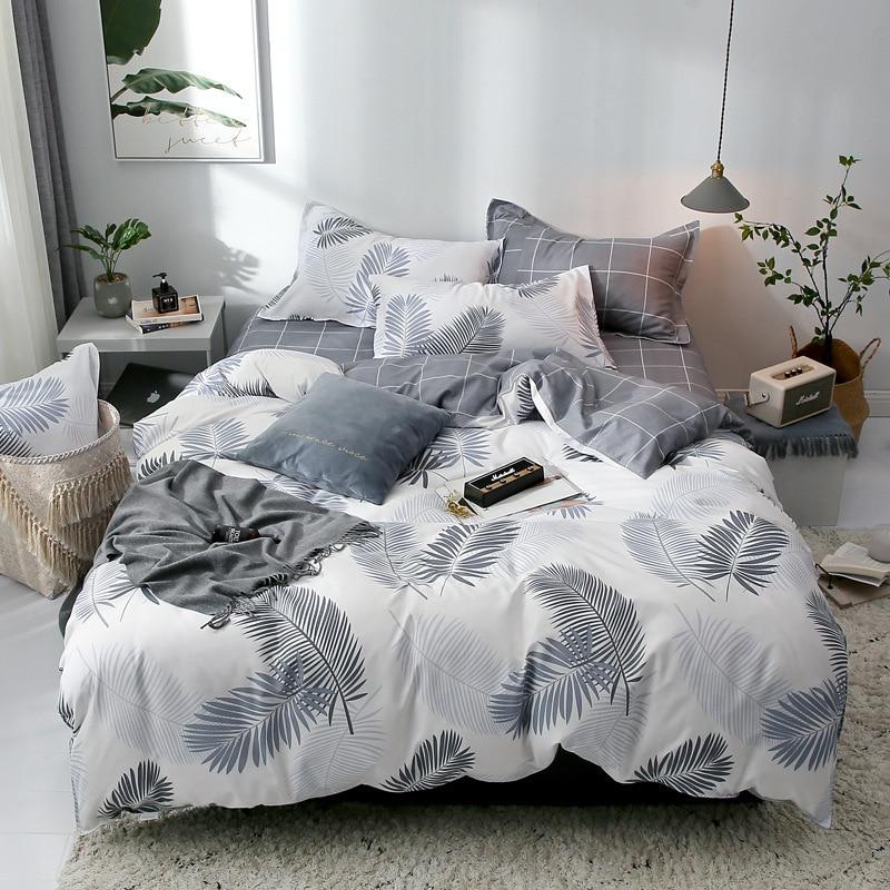 Sisher بسيط طقم سرير ورقة بيضاء المخدة حاف الغطاء أغطية سرير ورقة واحدة مزدوجة الملكة الملك الشمال لحاف يغطي 220x240