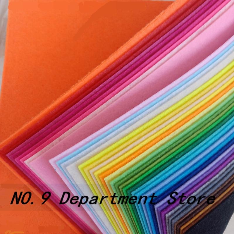 40pcs 30x30/30x20/15x15/15x10cm DIY Colorful Fabric Cloth 1mm Polyester Cloth Felts Home Sewing Wedd