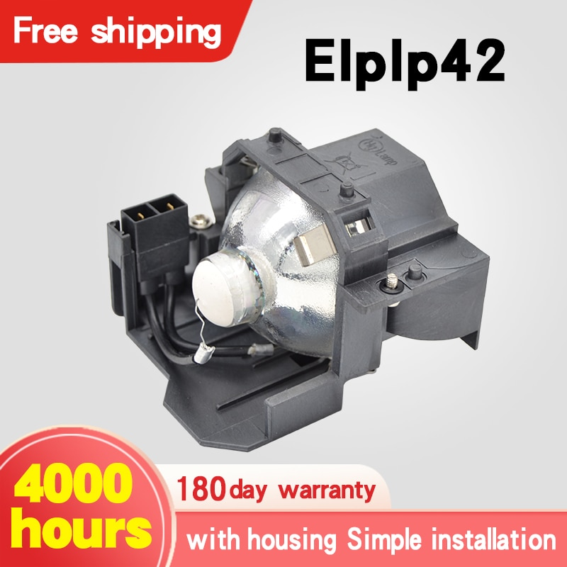 Free shipping Projector Lamps ELPLP42 for EB-TW420 EB-W6 EB-X5 EB-X52 EB-410WE EB-S52 EB-S6 EB-S62