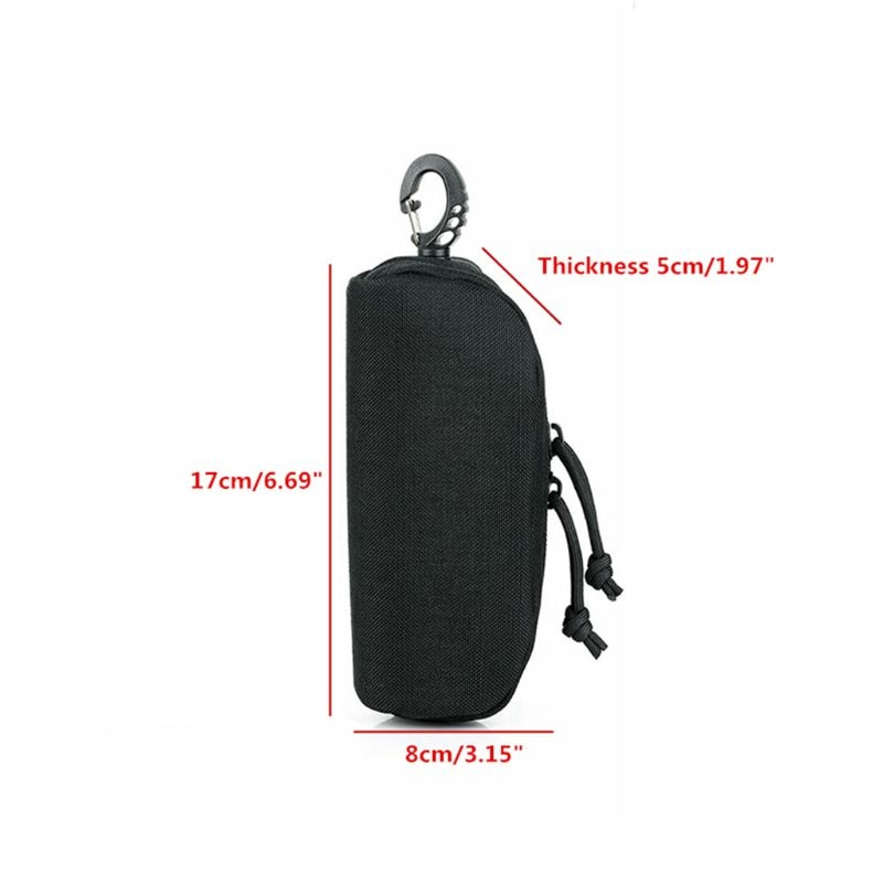 1pc Outdoor Hunting Sunglasses Case Military Molle Pouch Goggles Storage Box Nylon 900D