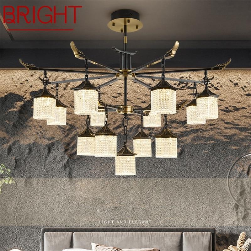 مشرق جديد قلادة ضوء الحديثة الفاخرة النحاس LED مصابيح تركيبات للمنزل ديكور الطعام غرفة المعيشة