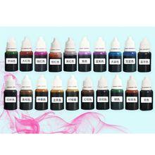 20 sztuk/zestaw 20 kolorów żywicy UV pigmentu cieczy barwnik epoksydowy DIY biżuteria artystyczna Making malowanie rękodzieło skoncentrowany barwnik