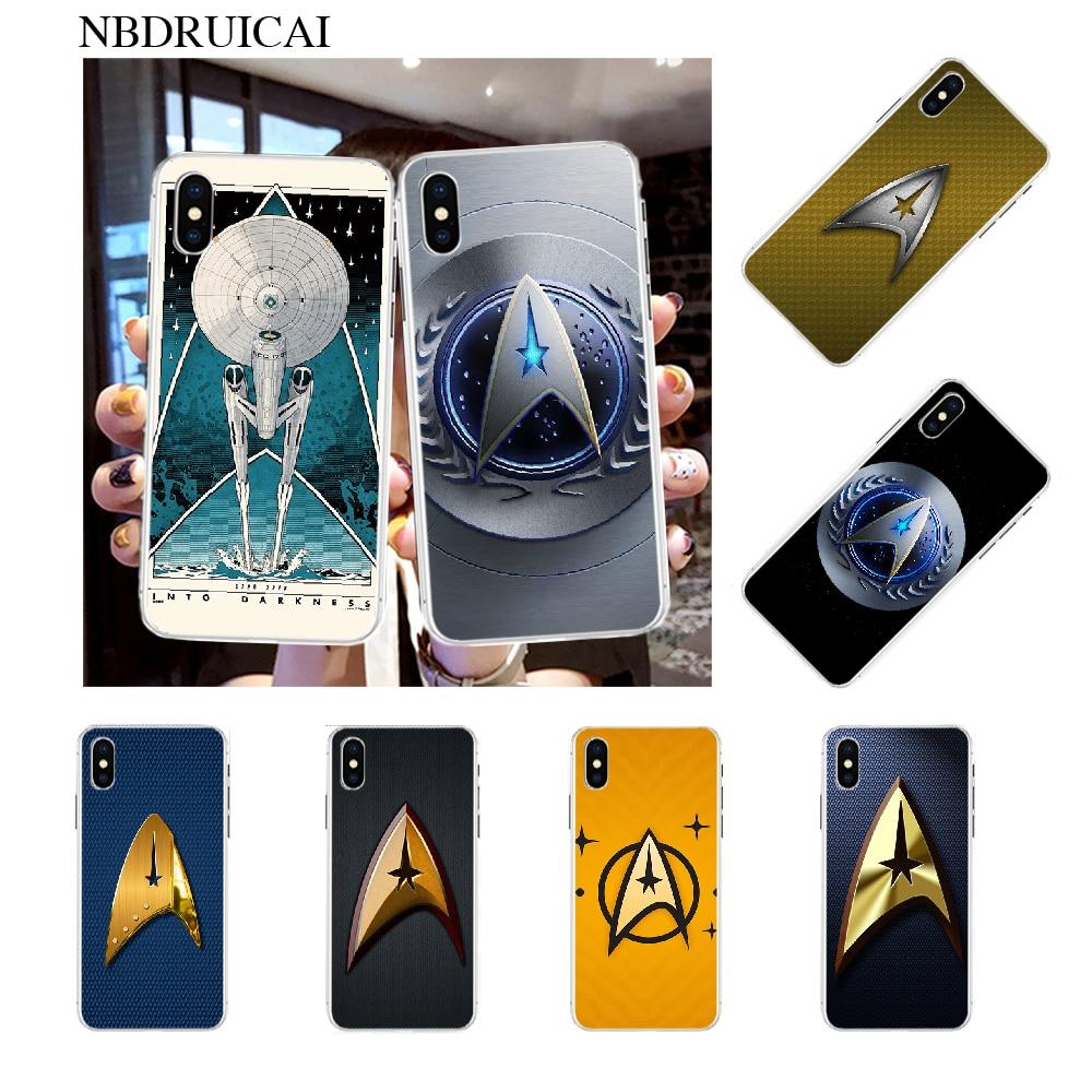 NBDRUICAI Star Trek película de lujo diseño único teléfono cubierta para iPhone 11 pro XS MAX 8 7 6 6S Plus X 5S SE XR cubierta