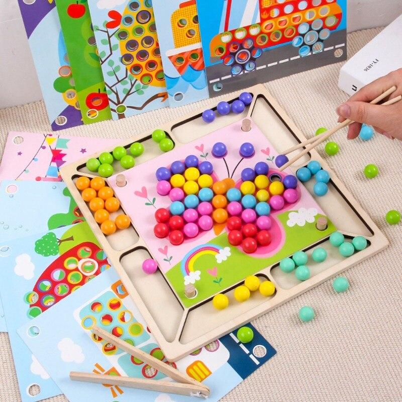 لعبة جديدة من مونتيسوري لعام 2020 لعبة تدريب يدوية على الدماغ لعبة تصنيف ملونة للأطفال الرضع ألعاب تعليمية في مرحلة الطفولة المبكرة