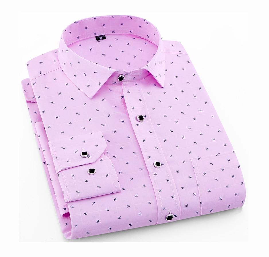 aliexpress.com - Men's Long Sleeve Print Plaid Shirt Spring Summer Slim Fit Dress Shirts Brand Male Clothing M-5XL