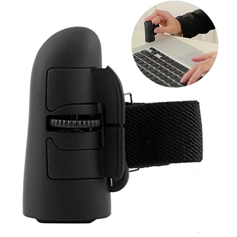 Mini bluetooth sem fio anel de dedo mouse ergonômico handheld viagem óptica inteligente ratos