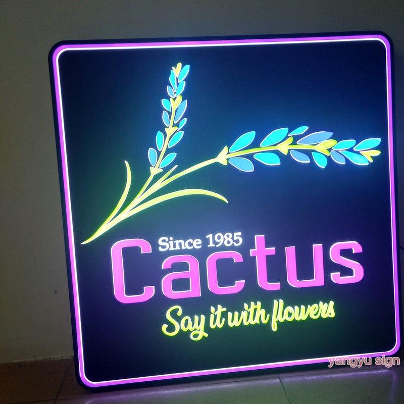 صندوق إضاءة led ثلاثي الأبعاد مخصص للافتات من الأكريليك
