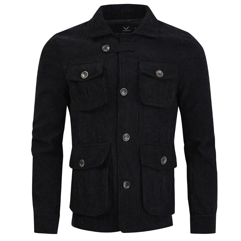 الخريف الرجال سروال قصير سترة رجالي ريترو تونك معطف للأماكن الخارجية معطف أربعة جيوب M-5XL حجم كبير jaqueta masculina