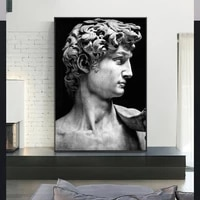 modern sculpture art david porarait canvas paintings on the wall art posters and prints wall hanging pictures for home decor