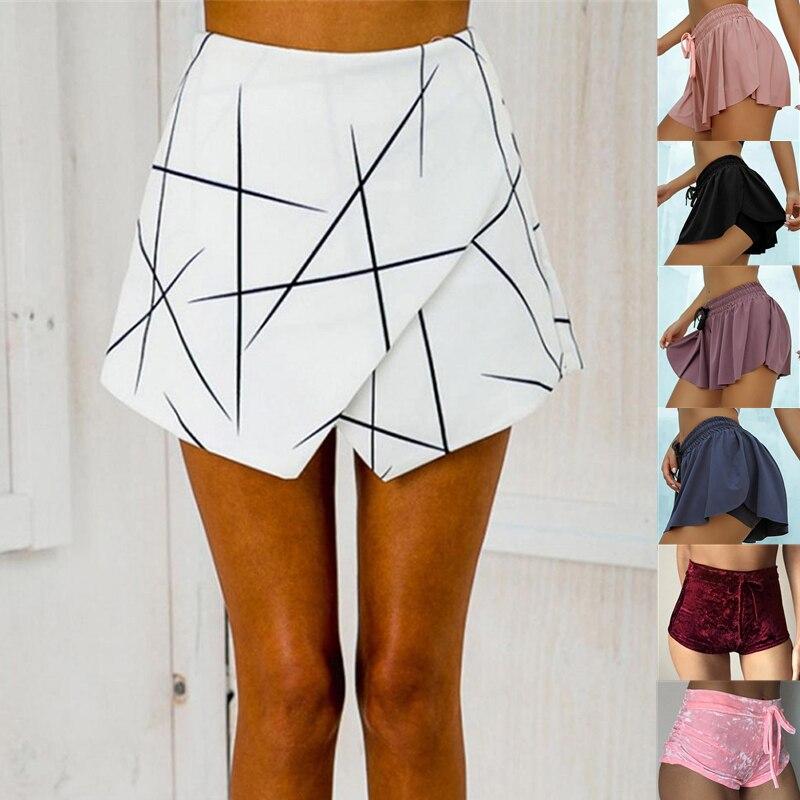 Geometric women's shorts, summer skirt, sexy, office use, Spodenki Damskie sandały damskie 2021 klapki damskie na co dzień i wygodne fajne kapcie z miękkim dnem rozmiar 36 41 sandały damskie na lato