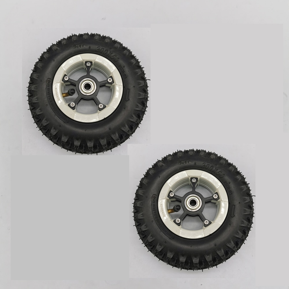 2 piezas de neumático de 8 pulgadas de color negro, monopatín eléctrico, monopatín, cochecito, scooter, rueda inflable de goma