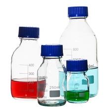 Réactif en verre de laboratoire bouteille bouchon à vis bleu bouchon à vis réactif en verre pour ustensiles de laboratoire consommables médicaux 100ml-1000ml