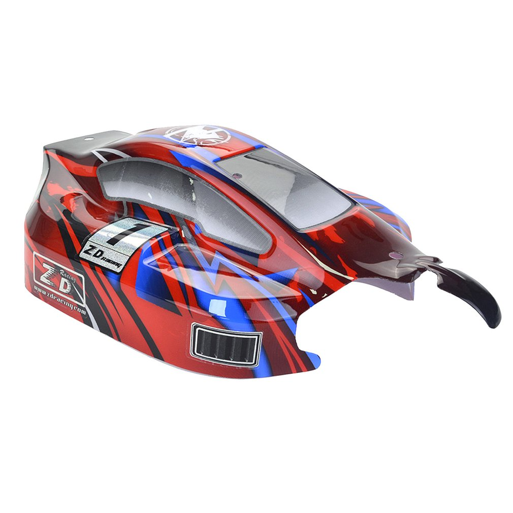 RC On-road Car PVC Shell Body Cover for 1/8 ZD Racing 8459 RC Racing Car Accessories Parts Black/Red