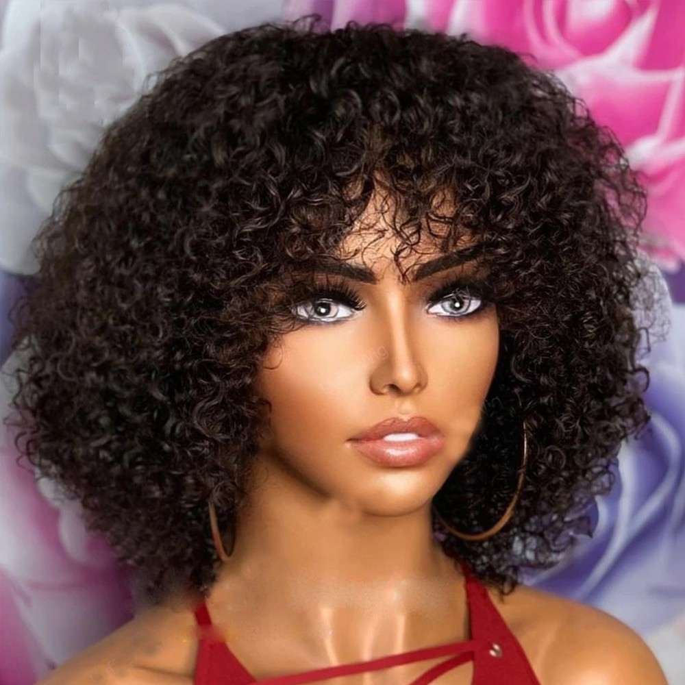 Full Machine Made Wigs Highlight Honey #27 #30 Blonde Brown Colored Human Hair Wigs For Women Jerry