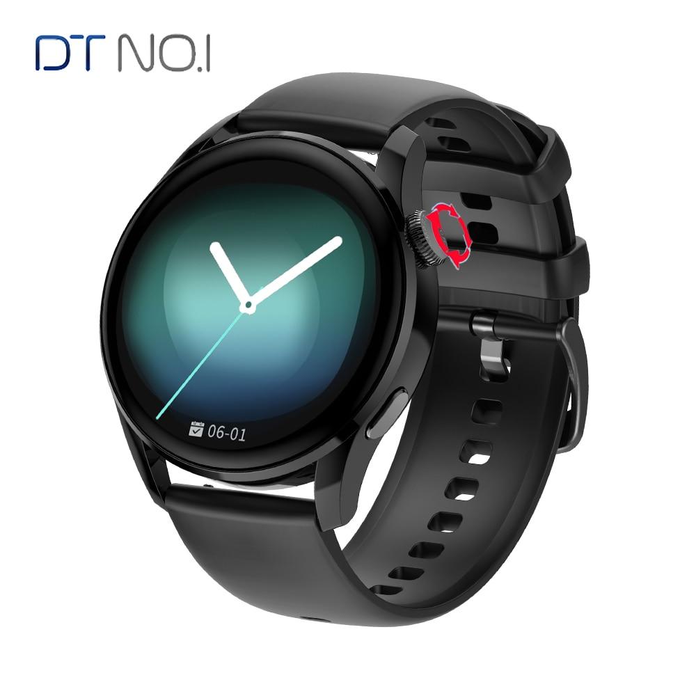 DT No.1 DT3 ساعة ذكية 1.36 بوصة IP68 مقاوم للماء ECG PPG معدل ضربات القلب 390*390 HD 100 ساعة يدوية وجه BT دعوة/الموسيقى Smartwatch