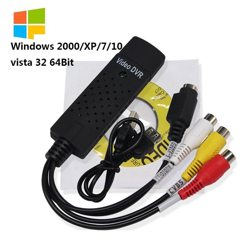 Адаптер Wiistar USB 2,0 для ТВ/DVD/VHS, адаптер для видео, поддержка карт Win XP / Win 7 / Vista 32, аксессуары
