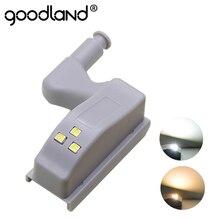 Goodland led sob a luz do armário universal guarda-roupa sensor de luz led armario dobradiça interior lâmpada para armário cozinha