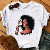 cool 1865 juneteenth letter print women t shirts black girl magic tshirt femme melanin poppin t shirt female streetwear tops