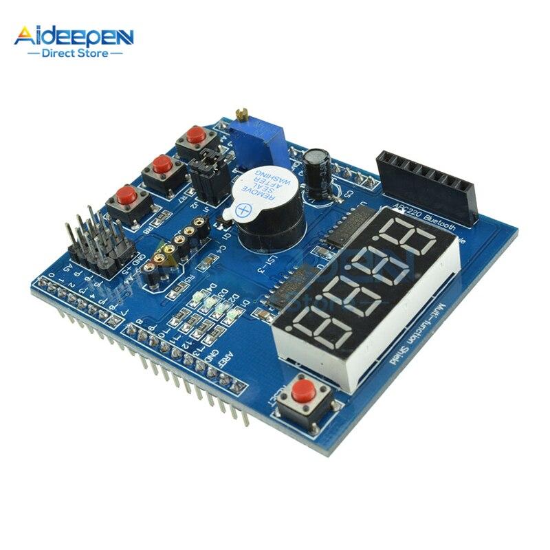 Placa de expansión para Arduino, pantalla LED multifuncional, tablero de aprendizaje con zumbador para Arduino UNO, R3, LENARDO Mega 2560