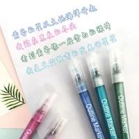1pc double line outline pen 8 color flash chalk hook color pen student art paint marker pens diy scrapbooking poster stationery
