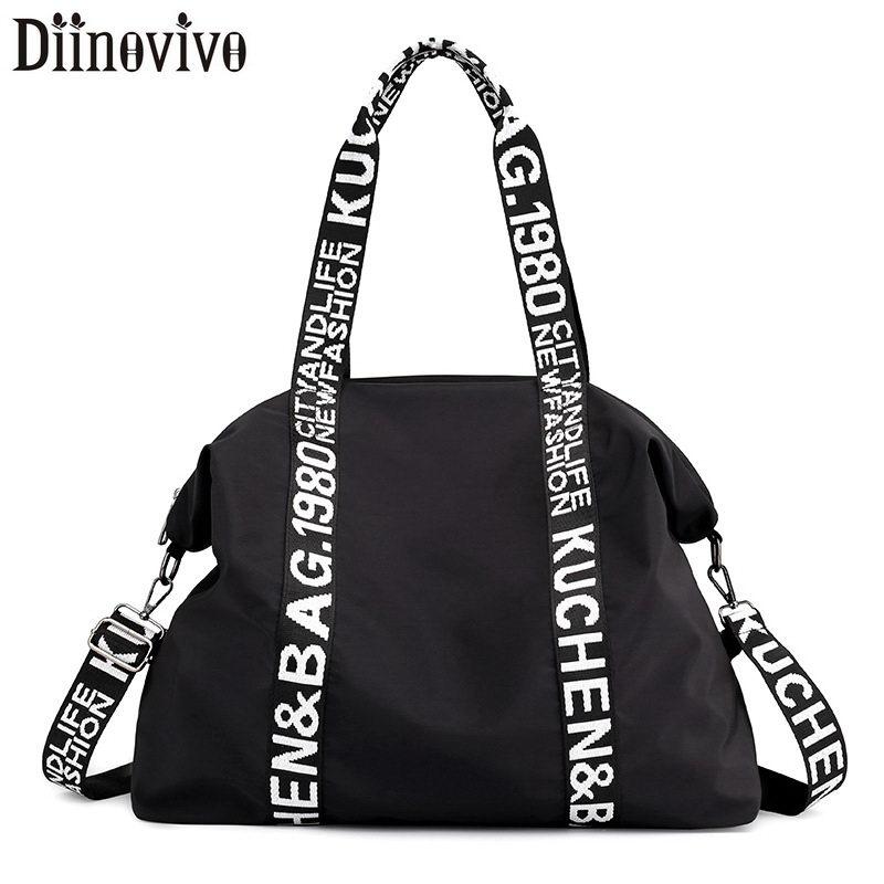 DIINOVIVO Large Capacity Women Bag Nylon Travel Casual Handbags Totes Ladies Shoulder Female Bags WHDV1243