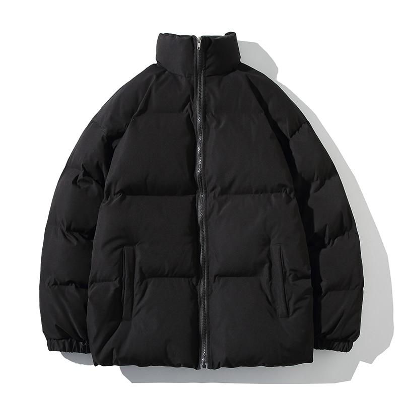 Зимняя куртка, мужские парки, утепленное теплое пальто, мужские куртки с воротником-стойкой, однотонная парка, пальто, женская мода, новая ул...