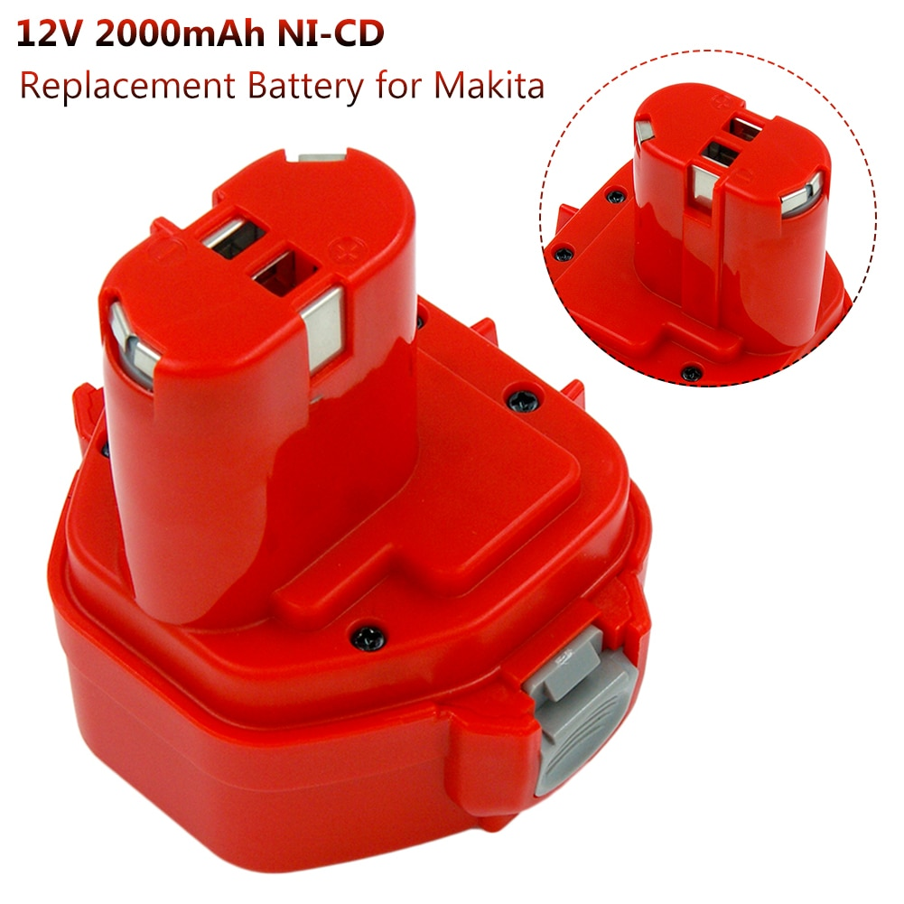 Replacement Battery For Makita 12V 2000mAh Ni CD Rechargeable batteries Power Tools Bateria PA12 1220 1222 1235 1233S 6271D