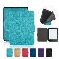 tpu case for kobo clara hd 6 inch ereader cover for kobo n249 soft protective shell skin pu leather auto sleep wake funda