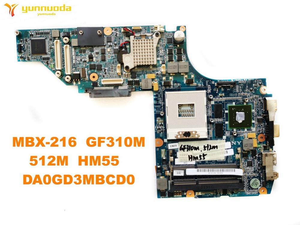 الأصلي لسوني MBX-216 اللوحة المحمول MBX-216 GF310M 512M HM55 DA0GD3MBCD0 اختبار جيد شحن مجاني