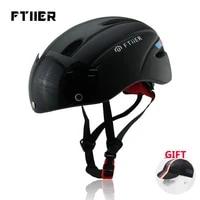 ultralight riding cycling helmet mountain bike helmet visor matte black with goggles 1 2 3 4 road bicycle helmet size m 54 60cm