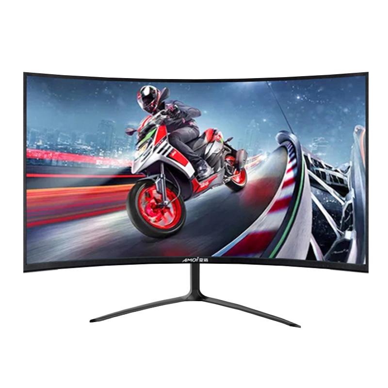 24 بوصة LCD المتكلم مراقب ألعاب 1920 × 1080p 75Hz رصد شاشة الكمبيوتر HD شاشة عرض ألعاب لسطح المكتب HDMI شاشة منحنية