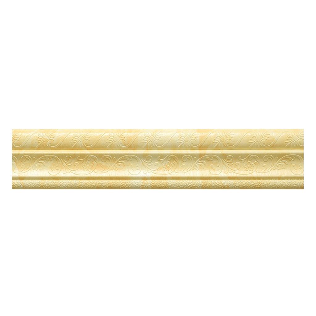 Pegatina de pared de borde impermeable línea de esquina superior borde de la pared tira de cintura línea de la cintura pegatina azulejos papel tapiz de pared decoración de pared 3D # T2