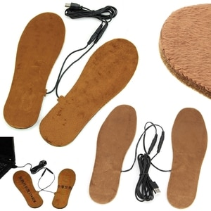 USB Electric Powered Heated Winter Insoles For Shoes Boots Keep Feet Warm 28GA