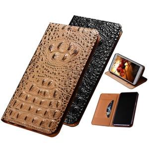 Crocodile texture genuine leather magnetic flip cover for Nokia 6.3/Nokia 6.7/Nokia 5.4/Nokia 3.4/Nokia 2.4 phone case card slot