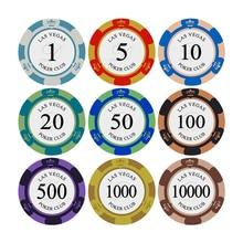 Poker Club Crown Poker Chips aus Ton 40mm 14g Poker Chip 10 Stück Casino Token