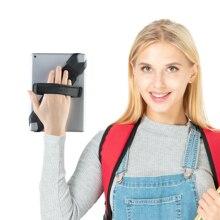 "JOYLINK 360 Degrees Swivel Generic Tablet Hand Strap Holder Leather Handle Grip Elastic Belt Secure for 9.7~10.5"" With Pen Plug"