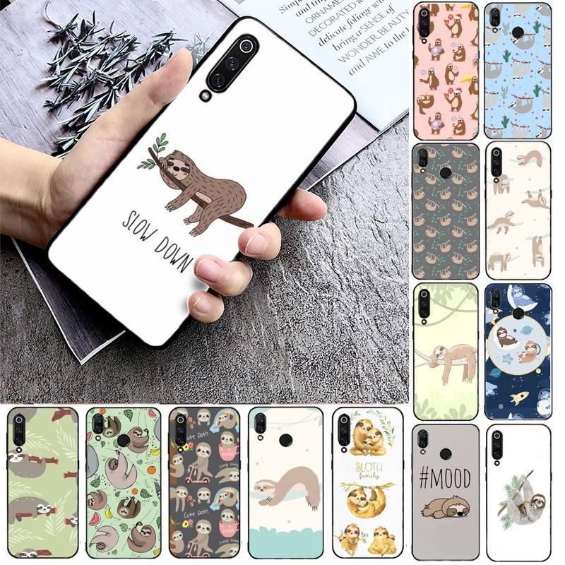 FHNBLJ Cute Sloth Animals Phone Case Phone Case For Xiaomi mi9 mi8 F1 9SE 10lite note10lite Mi8lite