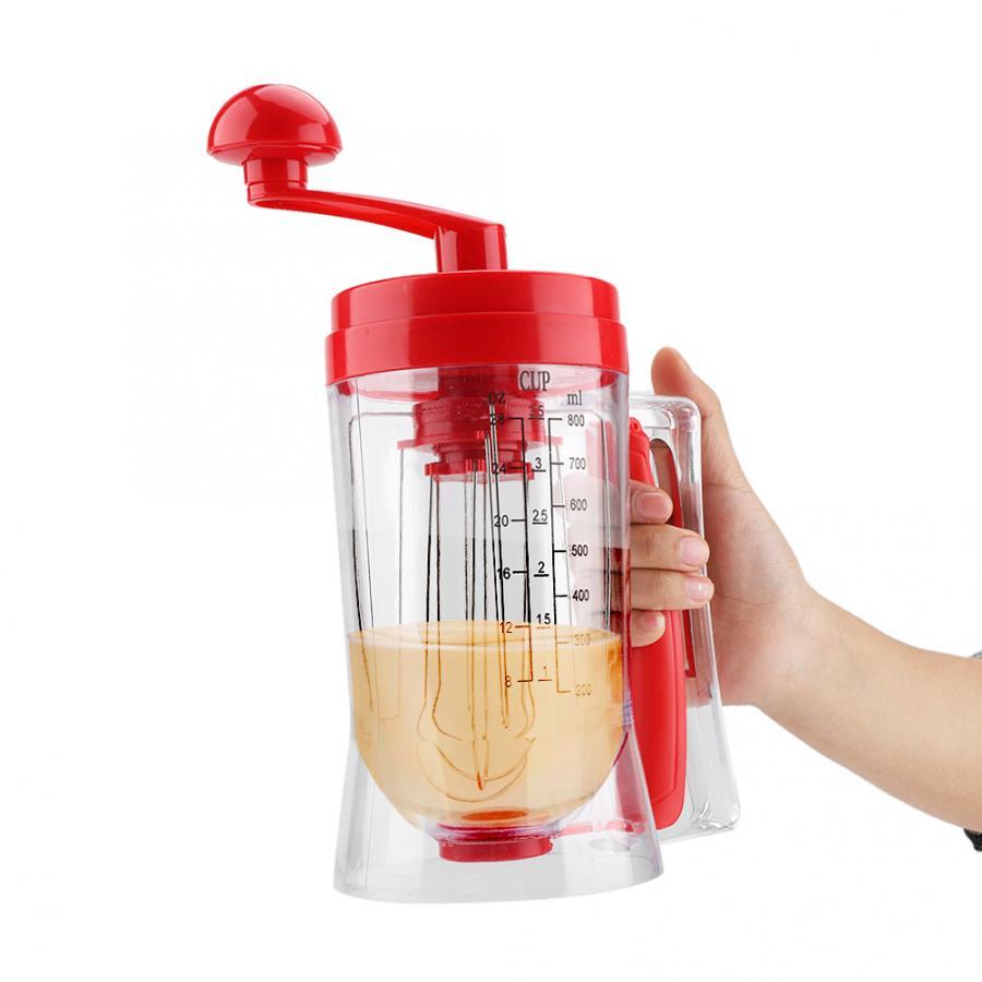 Kitchen Machine Hand-held Manual Pancake Cupcake Batter Mixer Dispenser Blender Machine Baking Tool