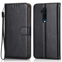 Luxury Leather Case for On OnePlus 7T Pro Wallet Stand Flip Case Phone Bag With Strap