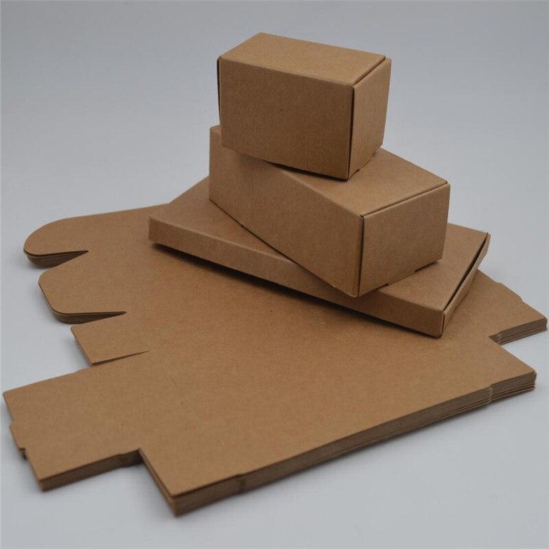 5 unids/lote 30 tamaños marrón Natural Embalaje de papel caja de Cajas...