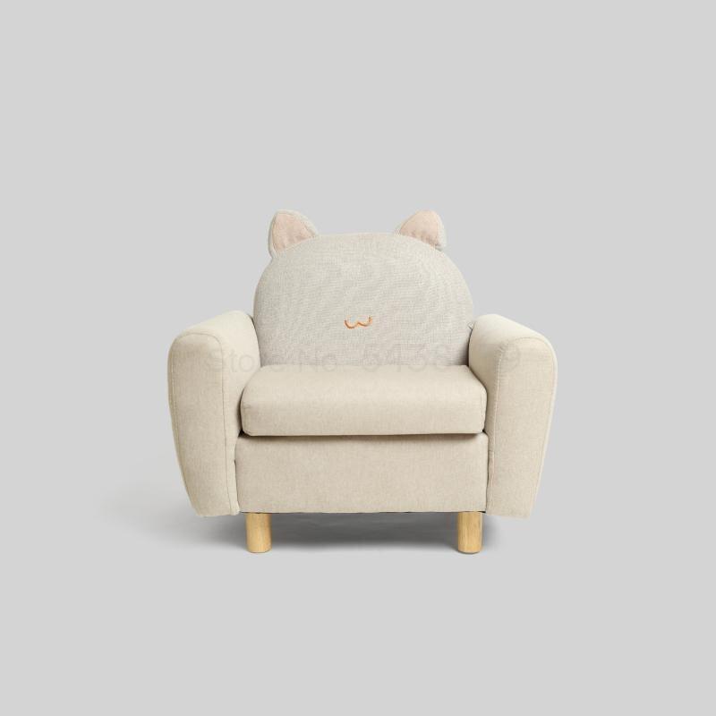 Pequeño sofá para niños con diseño de animales, silla de lectura para bebés, sofá perezoso de dibujos animados, mini asiento para niño y niña