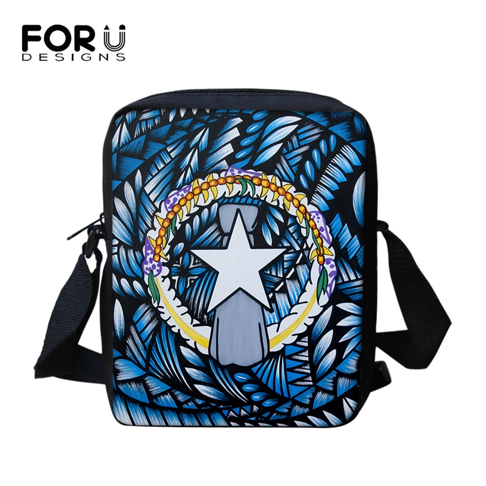 FORUDESIGNS Cnmi Tribe Pattern Lady Messenger Bag With Zipper Casual Mini Shoulder Sac for Female Portable Travel Bags for women