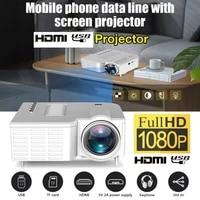Projecteur video Portable cinema maison cinema 50 Lumens luminosite LCD Source lumineuse bureau Supplie Support pour telephones intelligents