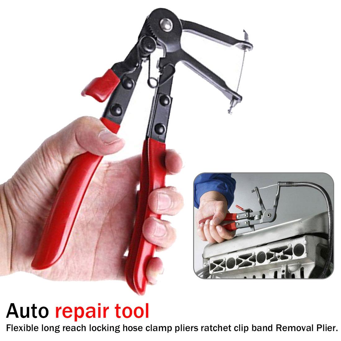 1pcs Auto vehículo herramientas tipo de Cable alambre Flexible de largo alcance de la abrazadera de la manguera Alicates para reparación de la abrazadera de la manguera de herramientas de mano