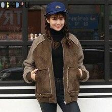 Autumn and Winter Short Loose Deerskin Jacket Women New Thick Warm Warm BF Style Woolen Parkas Coat Windproof Ladies Overcoat
