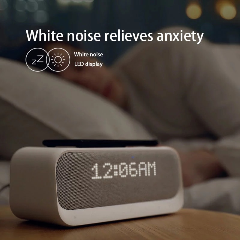 Alarm Clock Speaker FM Radio Soundcore Wakey Bluetooth Speaker with Wireless Charger for Iphone Xiaomi Huawei