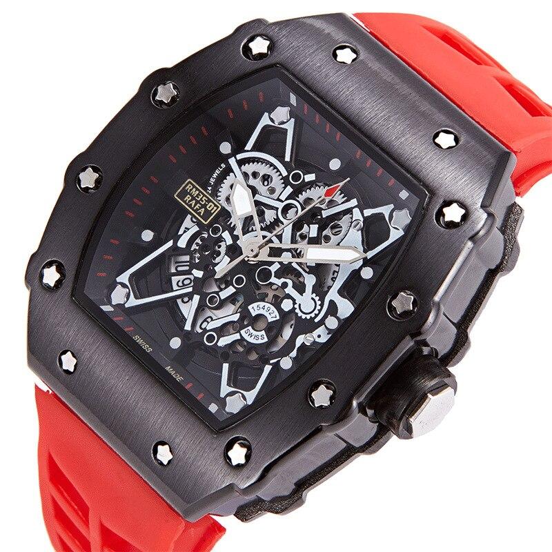 New Big Dial Men's Watch Waterproof Tonneau Sport Watches Men's Quartz Watch Male Watches Square Watch Multifunctional Miller